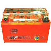 Аккумулятор 12V4А оранжевый  OUTDO   с  индикатором (кнопка)
